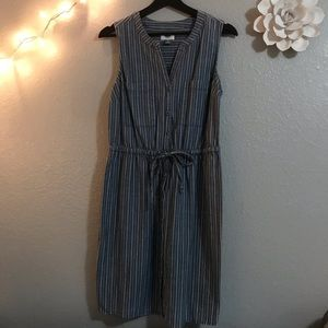 Blue/White Striped Dress